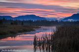 Mountains creek sunset