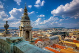 Building, house, panorama, Cathedral, temple, parapet, Hungary,