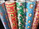 Christmas paper rolls