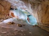 Eisriesenwelt ice caves in Werfen, Austria