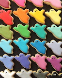 Rainbow Ghost Cookies