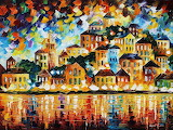 Greek harbor Painting