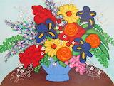blue vase, Becky Roesler