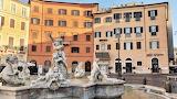 Sunbeam behind Piazza Navona Rome