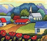 embroidery village, Trish Burr