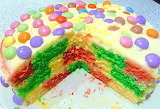 Checkerboard cake @ Jennifer's Little World