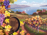 Scenery Vector Graphics Barrel Grapes Fields 570945 1365x1024