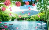 3D-landscape-bunga-pohon-anggur-TV-latar-belakang-3d-wallpaper-l