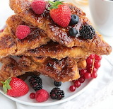 Caramelized croissant French toast