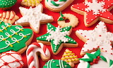 #Brightly Decorated Christmas Cookies
