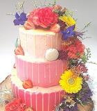 Flowery drip cake @ Amsterdam Cupcake Company