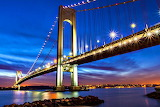 Twilight Over the Verrazano Bridge New York USA