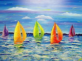 #Colorful Sailboats
