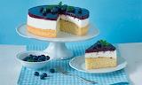 Cake, blueberries