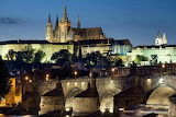 Night View of Prague and Bridge