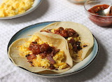^ Eggs and Bacon Breakfast Tacos