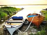 Boats, Lake, Coast