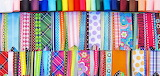 Rows of colorful ribbon