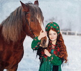 Red-haired girl with her horse-Photographer Bilichenko Oksana