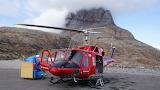 Air Greenland Bell-212 at Uummannaq heliport