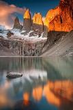 Patagonia sunrise Los Torres del Paine Chile