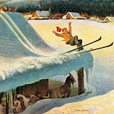 Barn Skiing~ John Clymer