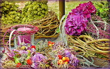 Floral decoration blossoming wreath