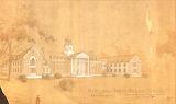 Rendering of Holloway Hall, Salisbury University, circa 1924