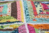 Colorful string quilt