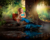 Nature, mermaid, girl, child, kid, river, water-trees-treasure c