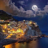 Night in Manarola, Italy