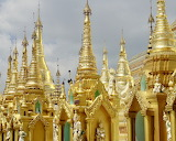 Buddhist temple, Yangon, Myanmar