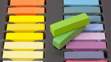 Colorful chalk bars