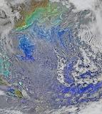 Turbulent N. Atlantic, NASA-NOAA's Suomi