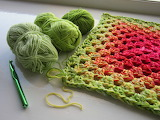 ^ Granny square reminds me of a watermelon