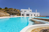 Luxury seaview Mykonos Villa, terrace and pool