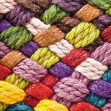 Colorful yarn weaving