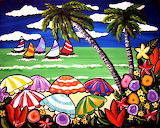 Beach Umbrellas by Renie Britenbucher