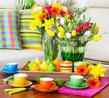 Bright colorful arrangement