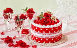 Christmas-cake-white-red