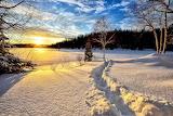 Winter Sunset - Photo id-636634 Pixabay by Alain Audet