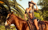Girl, horse, hot, sexy, shorts, beautiful, beauty, woman, nature