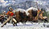 Winter Artiodactyl Hunt Native American USA