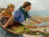 William Marshall Brown, Fishing Girls, ca. 1900