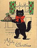 1930's Christmas Cat