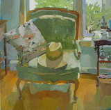 Carole Rabe, Straw Hat on Chair, 2000's