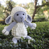 Hand-knitted toy