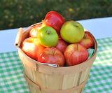 ^ Basket of apples
