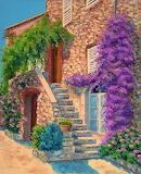 Stair and Bougainvillea