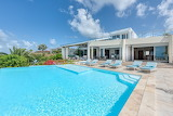 St. Martin white villa and pool